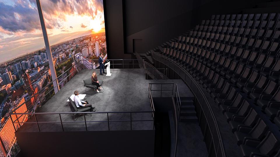 Streaming Studio für digitale Events im Imax