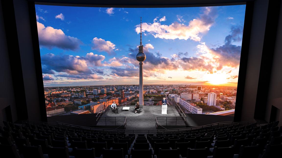 Digitales Studio im Imax im Sony Center am Potsdamer Platz