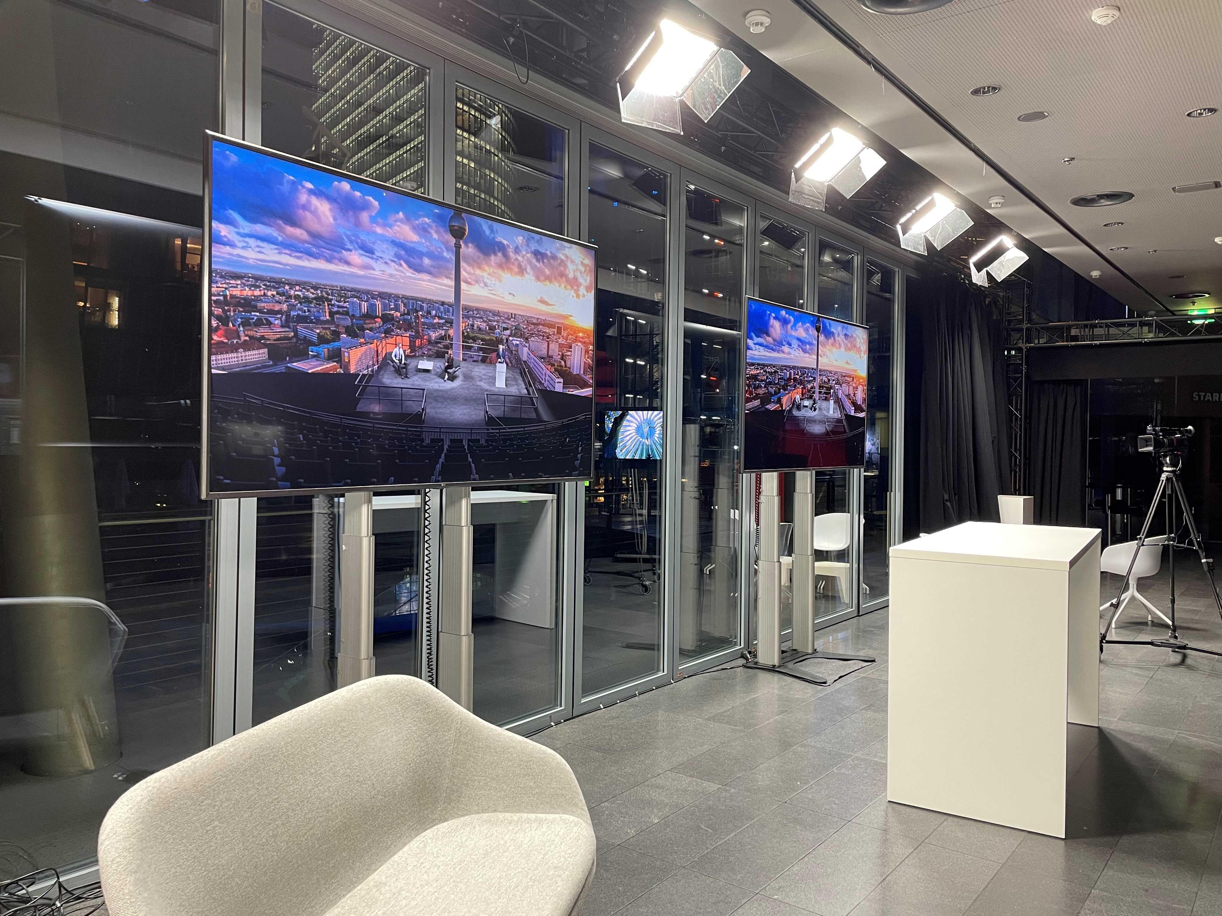 Studio für digitale Events im Imax