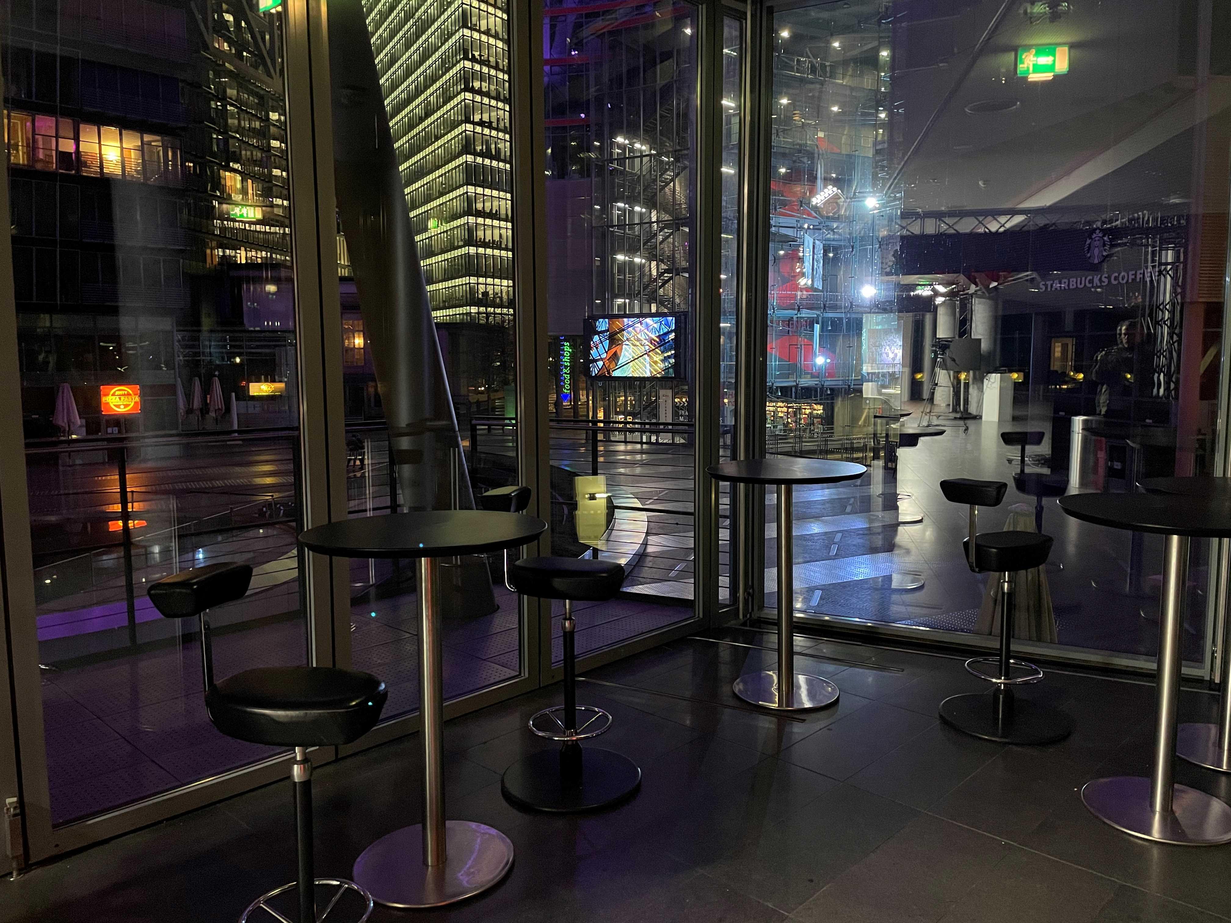 Digitales Studio im Sony Center am Potsdamer Platz