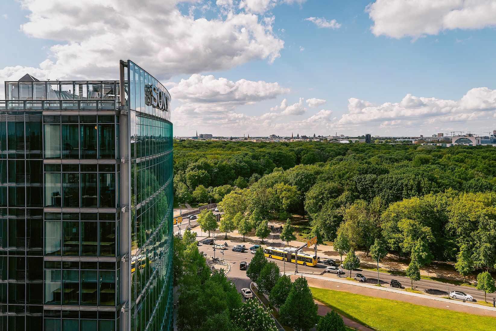 Büros mit Blick in den Tiergarten