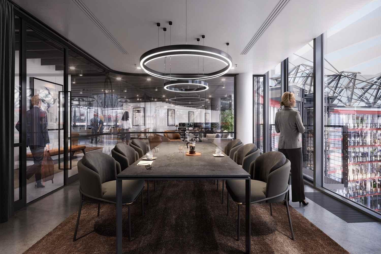 Modernisierte Büros im Sony Center Berlin