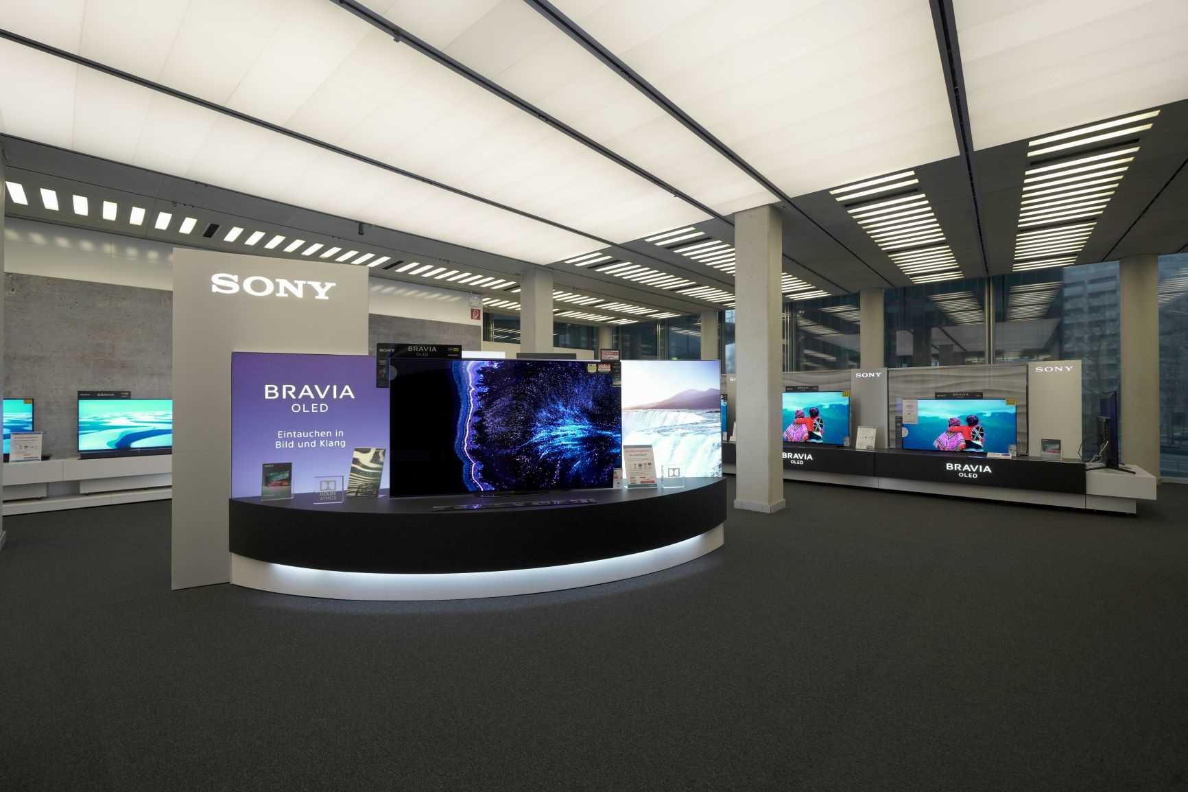 Entertainment Angebot im Sony Store im Sony Center am Potsdamer Platz