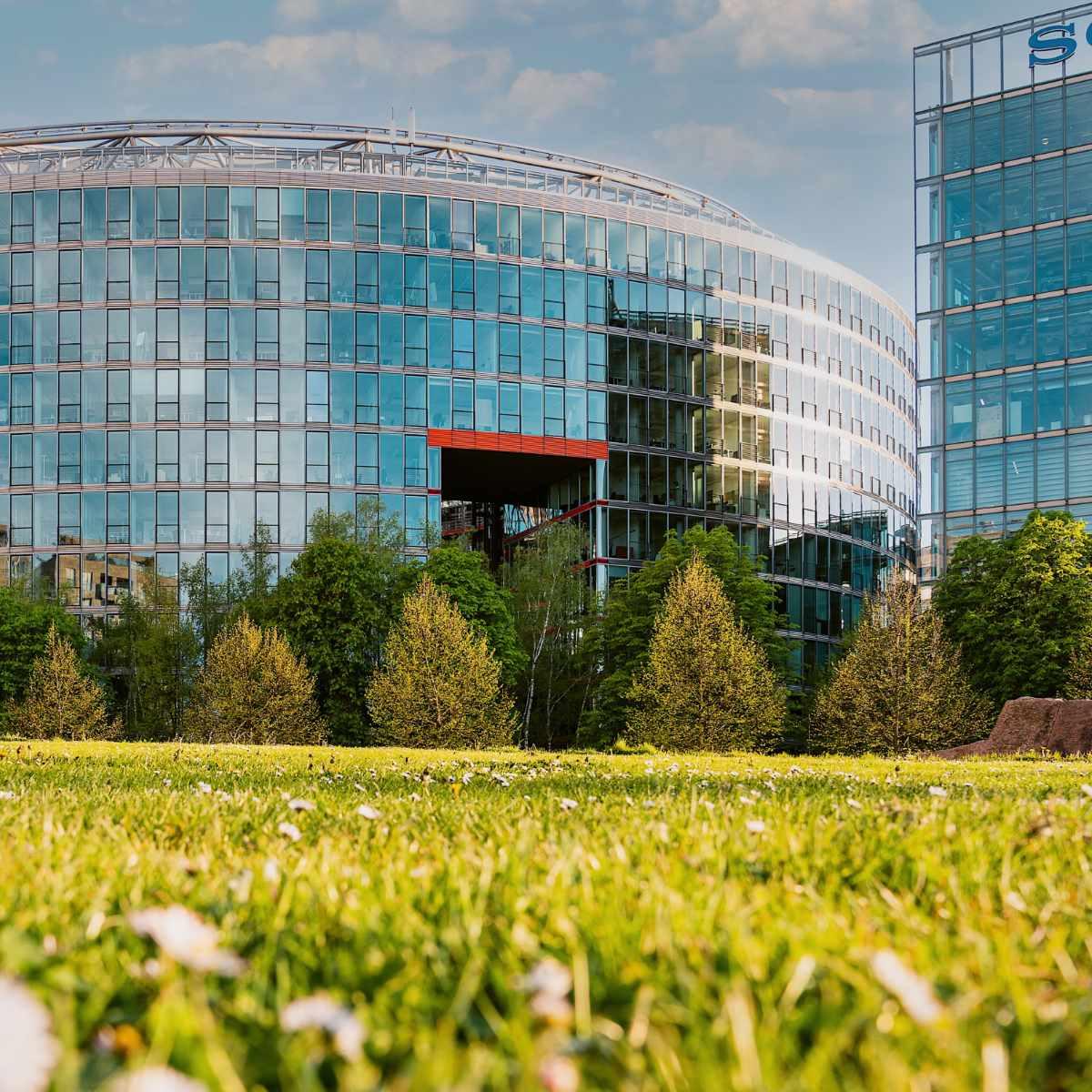 Büroflächen frei im Sony Center am Potsdamer Platz mit Blick in den Tiergarten