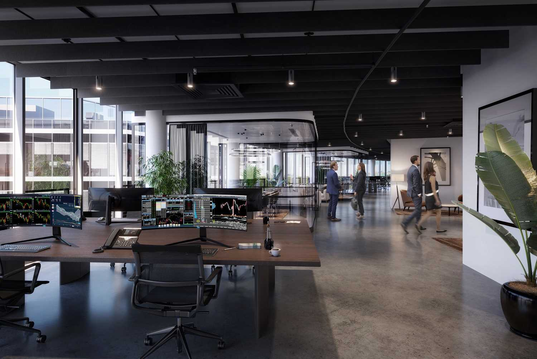 Modernisierte Büros im Sony Center am Potsdamer Platz